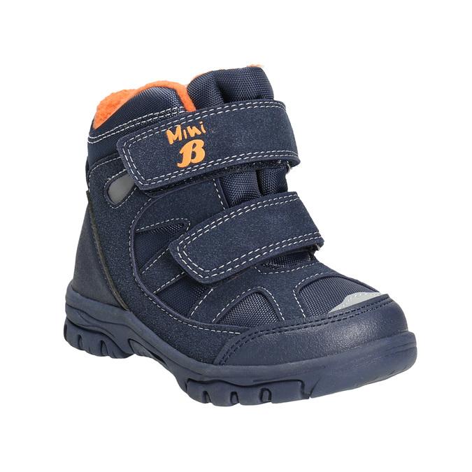 Detské zimné topánky na suchý zips mini-b, modrá, 291-9626 - 13