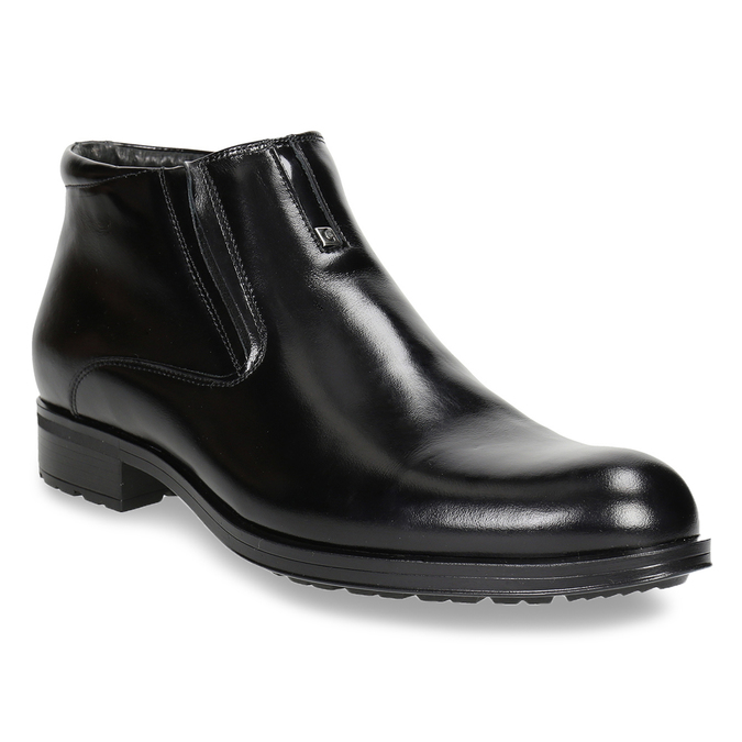 Pánska členková obuv so zateplením conhpol, čierna, 894-6698 - 13