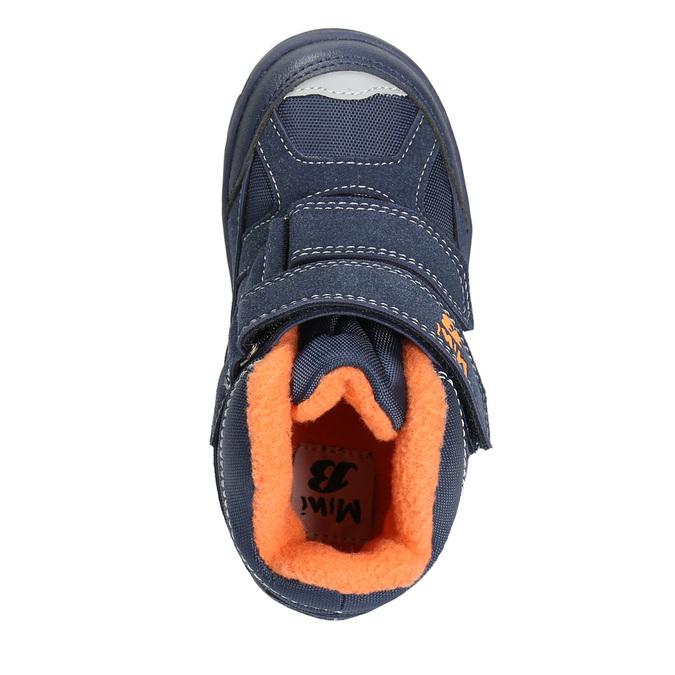 Detské zimné topánky na suchý zips mini-b, modrá, 291-9626 - 26
