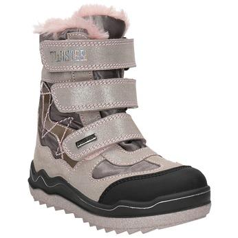 Ružová dievčenská zimná obuv mini-b, 299-5613 - 13