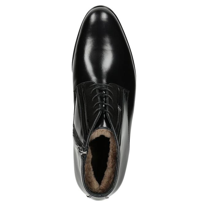 Kožená pánska obuv so zateplením conhpol, čierna, 894-6700 - 15