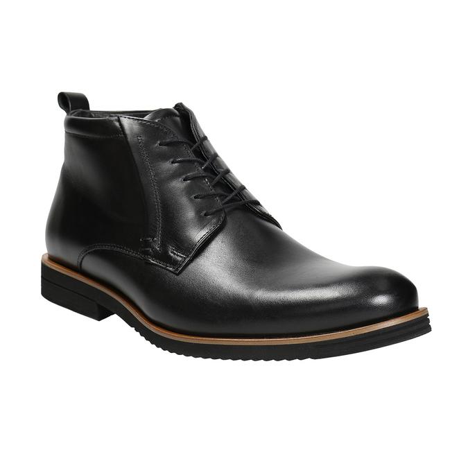 Pánska kožená členková obuv conhpol, čierna, 894-6696 - 13