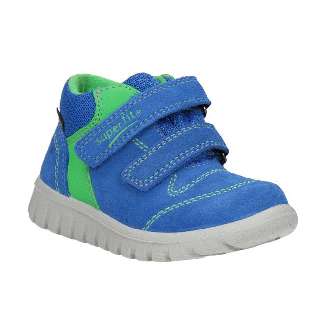 Kožená detská obuv na suchý zips superfit, modrá, 113-9036 - 13