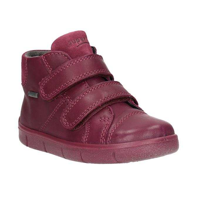 Detská členková kožená obuv superfit, červená, 124-5037 - 13