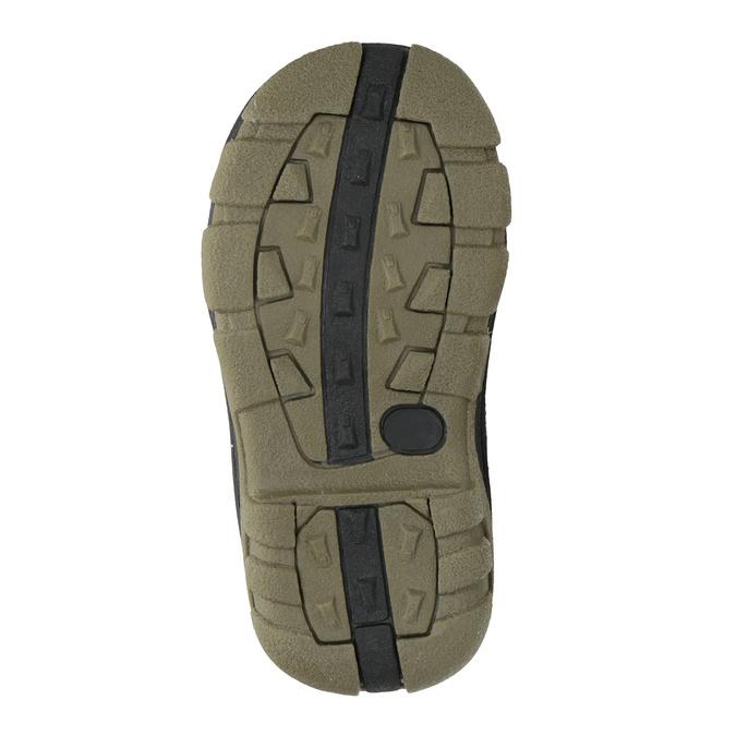 Detská zimná obuv na suchý zips bubblegummers, hnedá, 111-4623 - 17