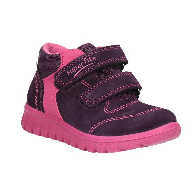 Kožená detská členková obuv superfit, fialová, 123-5036 - 13