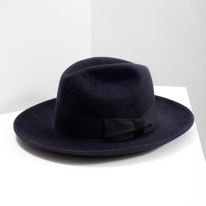 Tmavo modrý klobúk tonak, modrá, 909-9653 - 18
