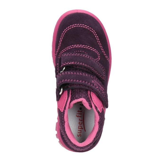 Kožená detská členková obuv superfit, fialová, 123-5036 - 15