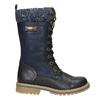 Dievčenská zimná obuv s úpletom mini-b, modrá, 391-9657 - 15