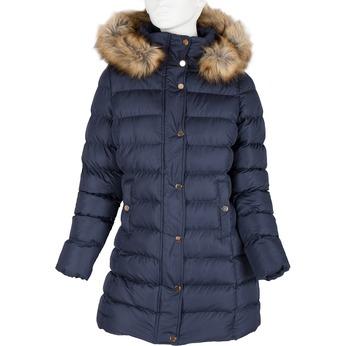 Dámska zimná bunda s kožúškom bata, modrá, 979-9134 - 13