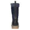 Dievčenská zimná obuv s úpletom mini-b, modrá, 391-9657 - 17