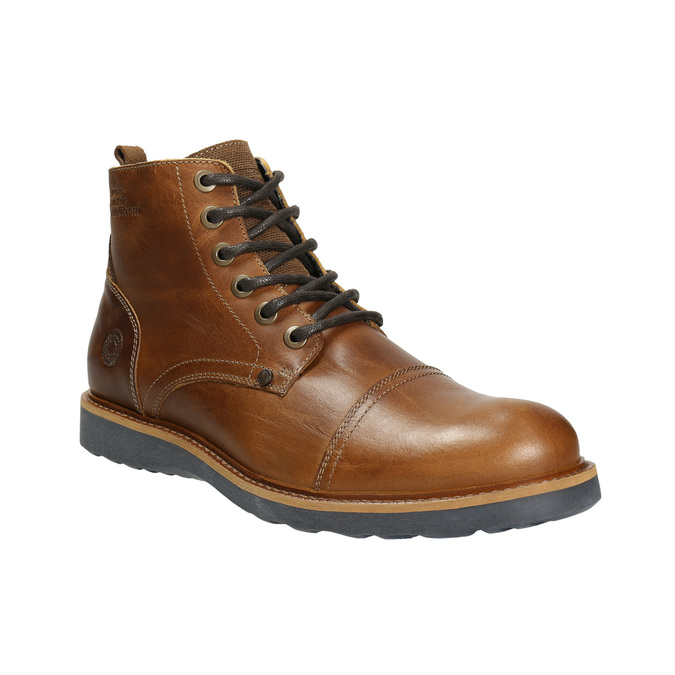 Hnedá kožená zimná obuv bata, hnedá, 896-4667 - 13
