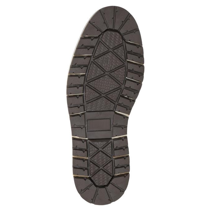 Pánska kožená obuv hnedá bata, hnedá, 896-3666 - 19