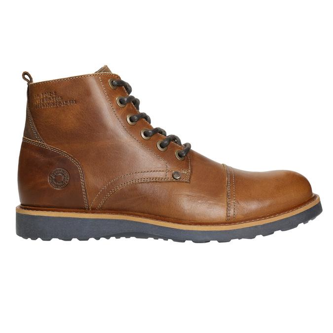 Hnedá kožená zimná obuv bata, hnedá, 896-4667 - 15