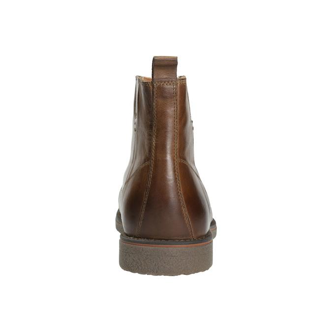 Kožená členková obuv so zateplením bata, hnedá, 896-4662 - 17