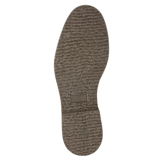 Kožená členková obuv so zateplením bata, čierna, 896-6662 - 19