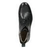 Kožená členková obuv so zateplením bata, čierna, 896-6662 - 26