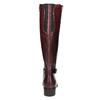 Kožené čižmy s prackou bata, červená, 596-5665 - 17