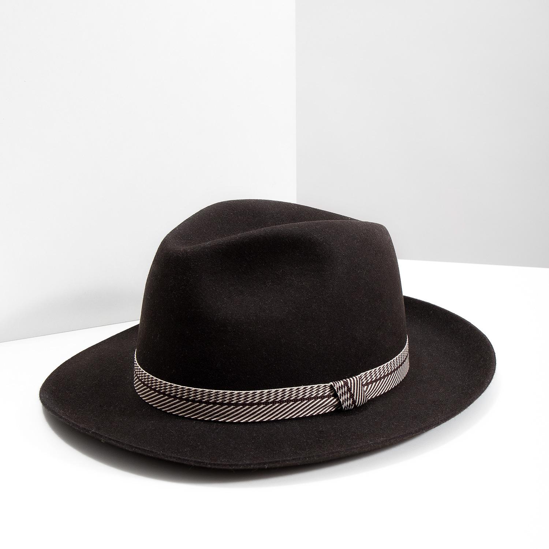9255d7512 ... Tmavo hnedý pánsky klobúk tonak, hnedá, 909-4654 - 18 ...