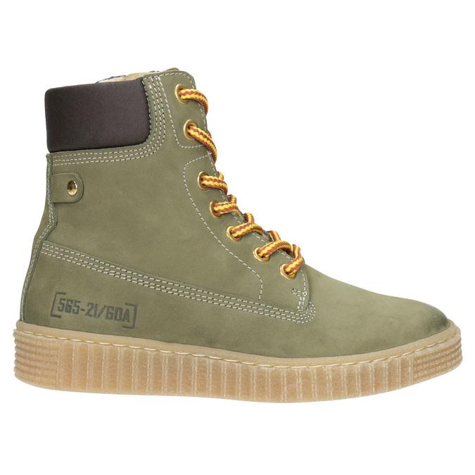 Detská zimná obuv so zateplením mini-b, zelená, 496-3620 - 26