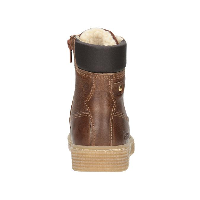 Hnedá detská zimná obuv mini-b, hnedá, 496-4620 - 16