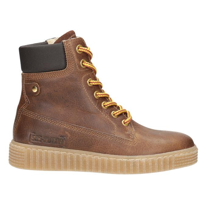 Hnedá detská zimná obuv mini-b, hnedá, 496-4620 - 26