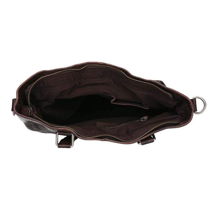 Hnedá kožená kabelka bata, hnedá, 964-4245 - 15