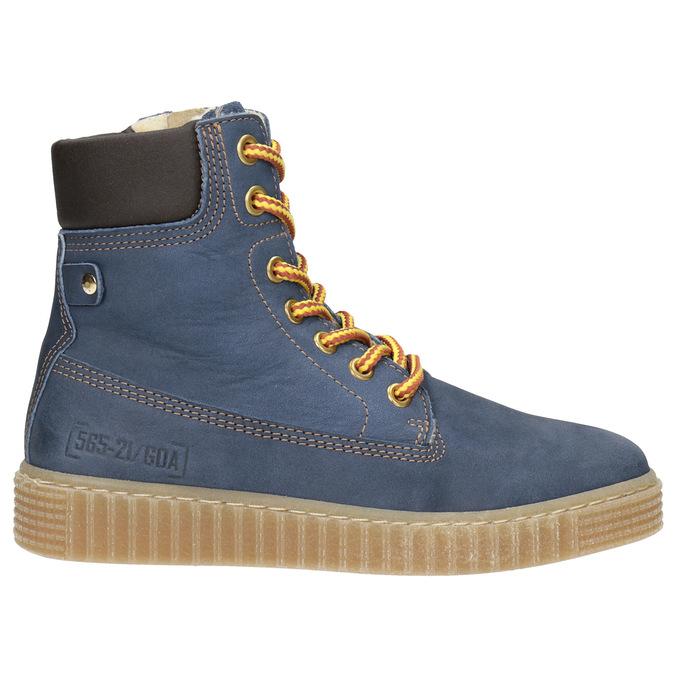 Detská zimná obuv so zateplením mini-b, modrá, 496-9620 - 26
