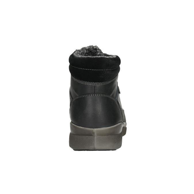 Pánska kožená zimná obuv bata, čierna, 896-6672 - 17