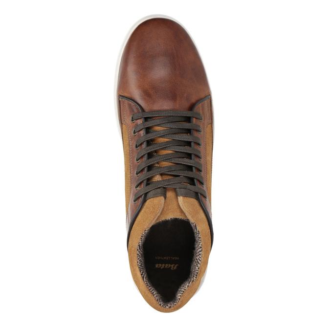 Pánske kožené tenisky bata, hnedá, 846-3643 - 15
