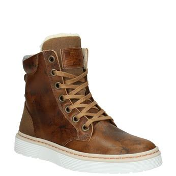 Kožená dámska zimná obuv bata, hnedá, 596-4684 - 13