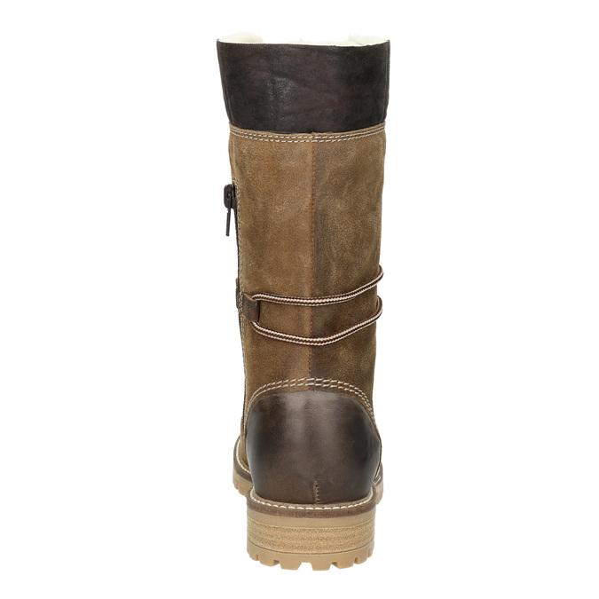 Dámska zimná obuv s kožúškom weinbrenner, hnedá, 593-8476 - 16