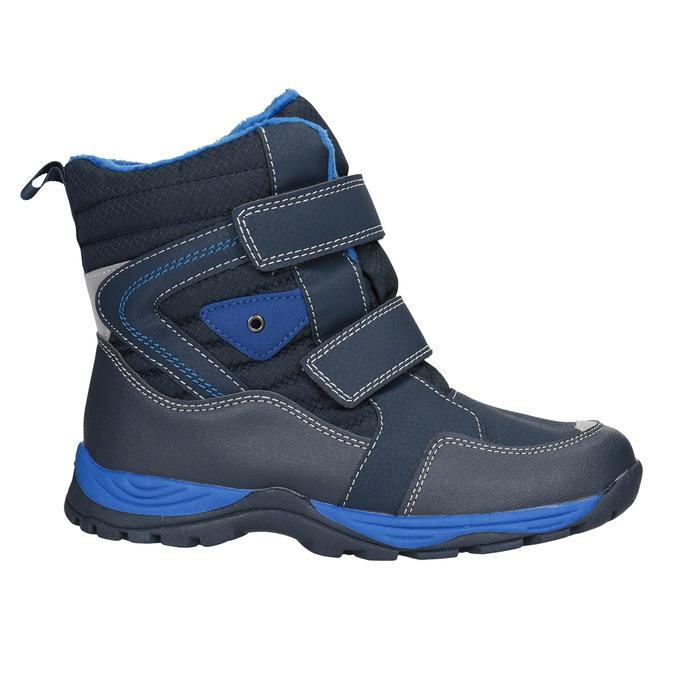 Detská zimná obuv na suchý zips mini-b, modrá, 491-9653 - 26