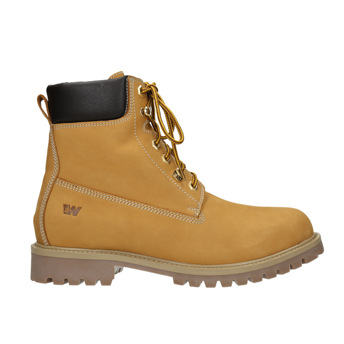 Kožená členková obuv weinbrenner, žltá, 896-8669 - 26