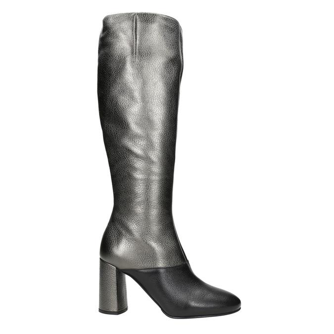 Kožené dámske čižmy classico-and-bellezza, strieborná, 796-8027 - 26