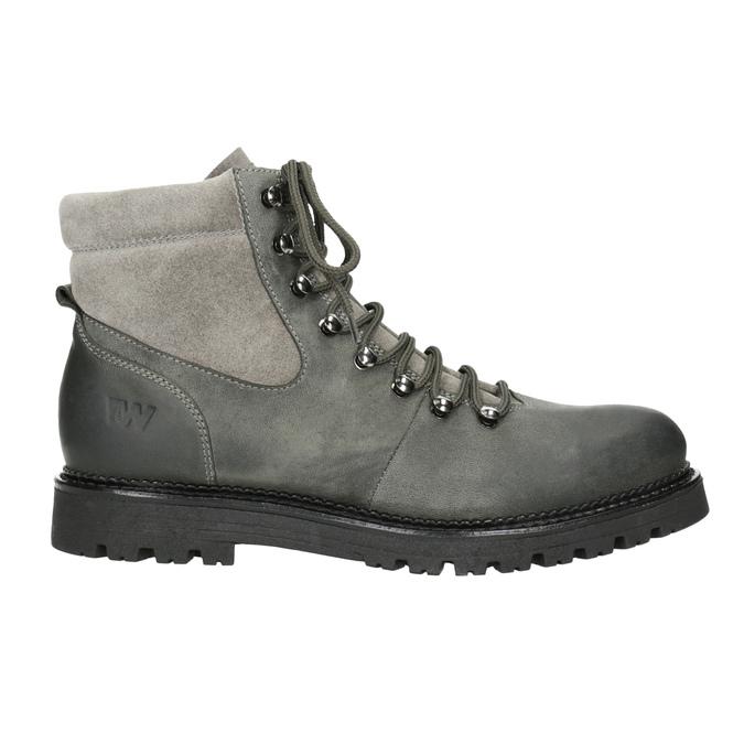 Členková dámska kožená obuv weinbrenner, šedá, 596-2672 - 26