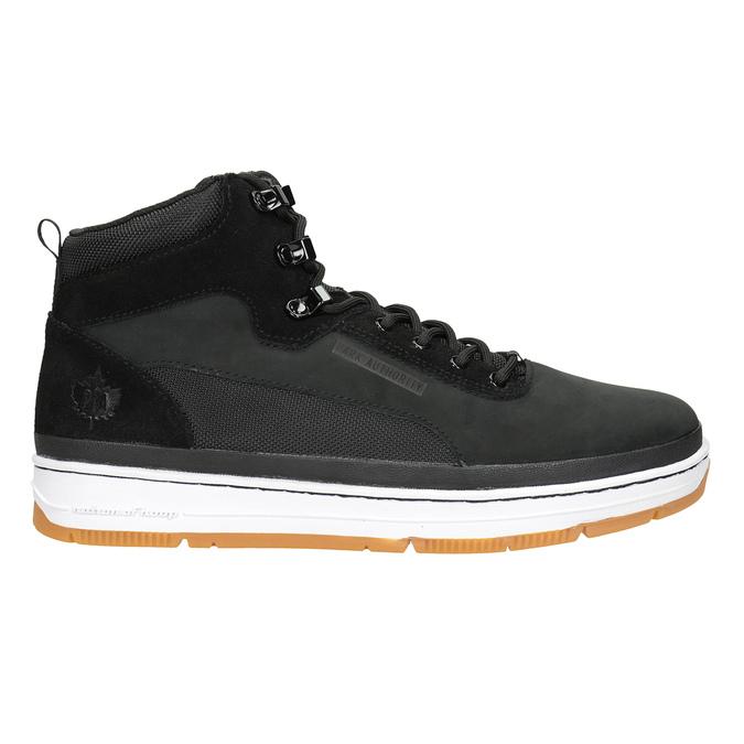 Kožená členková pánska obuv k1x, čierna, 806-6552 - 26