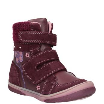 Kožená detská zimná obuv bubblegummers, červená, 124-5602 - 13