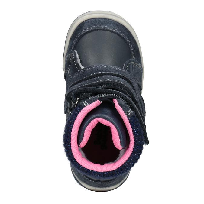 Detská kožená zimná obuv bubblegummers, modrá, 124-9602 - 15