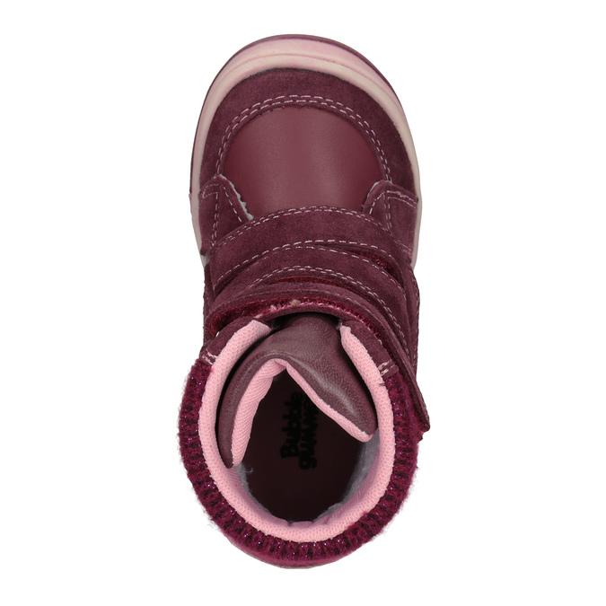 Kožená detská zimná obuv bubblegummers, červená, 124-5602 - 15