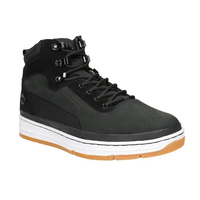 Kožená členková pánska obuv k1x, čierna, 806-6552 - 13