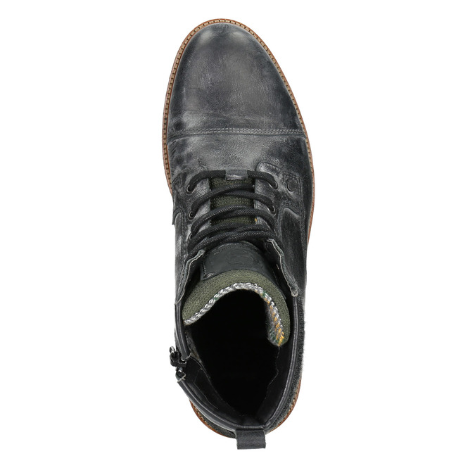 Kožená pánska členková obuv bata, šedá, 896-2669 - 15