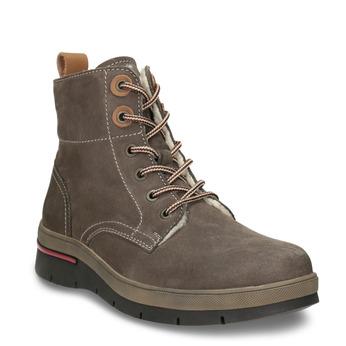 Kožená dámska zimná obuv weinbrenner, hnedá, 596-4666 - 13
