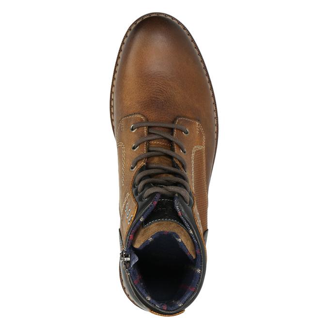 Členková kožená obuv bata, hnedá, 896-3680 - 26