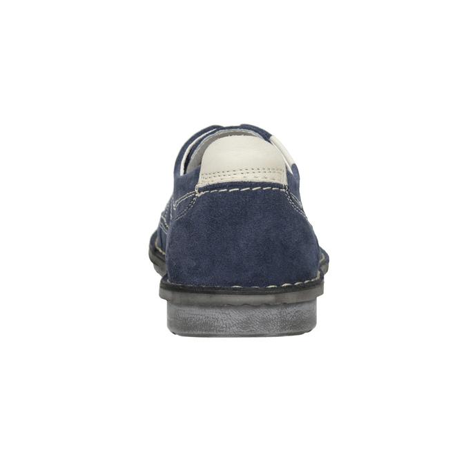 Neformálne poltopánky z brúsenej kože bata, modrá, 853-9612 - 16