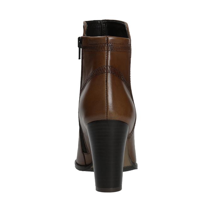 Kožená členková obuv bata, hnedá, 794-4650 - 16
