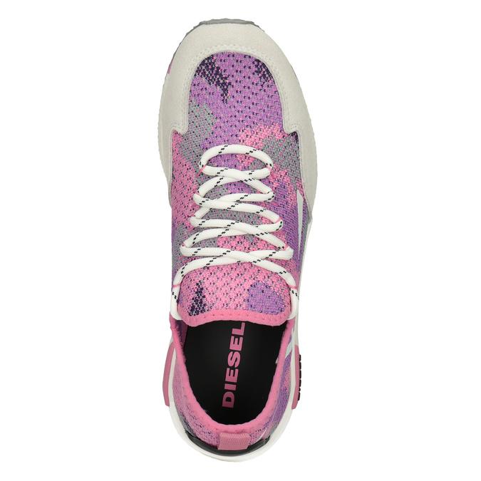 Ružové športové tenisky diesel, ružová, 509-5760 - 17