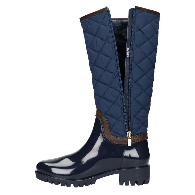 Modré dámske čižmy bata, modrá, 592-9402 - 15