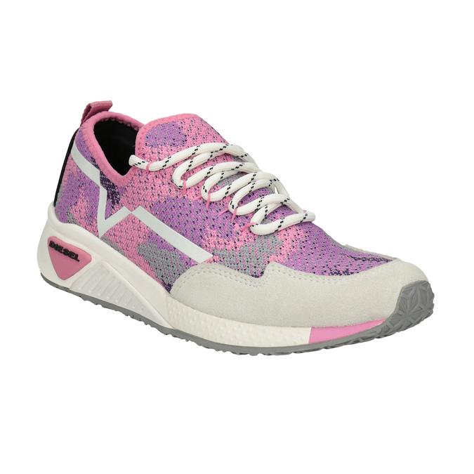 Ružové športové tenisky diesel, ružová, 509-5760 - 13