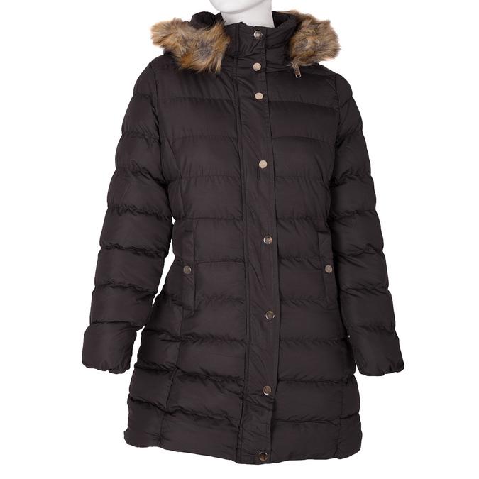 Dámska zimná bunda s kožúškom bata, hnedá, 979-4134 - 13